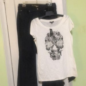 EXPRESS EVA fit&flare AND Skull T W/ Accessories